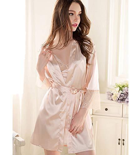 Crystallly Lord of the nachthemd badjas badjas pyjama set elegant Unico Top Chese Kimono Negligee kleding ondergoed huis Moda pyjama Comodi