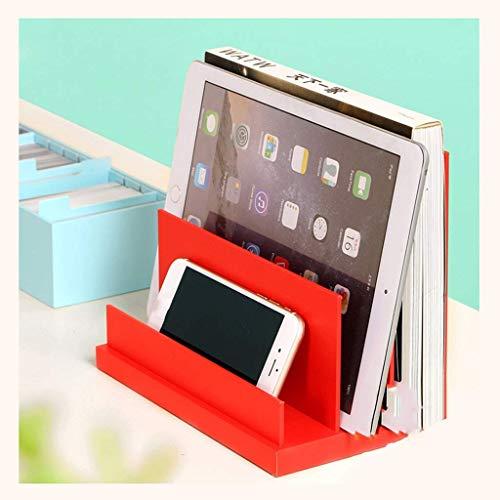 LY88 desktoprek bureau opbergmand papierhouder kantoorbenodigdheden desktop opslag creatieve trapeziumboekenstaander aktenhouder leesframe (kleur: # 2)