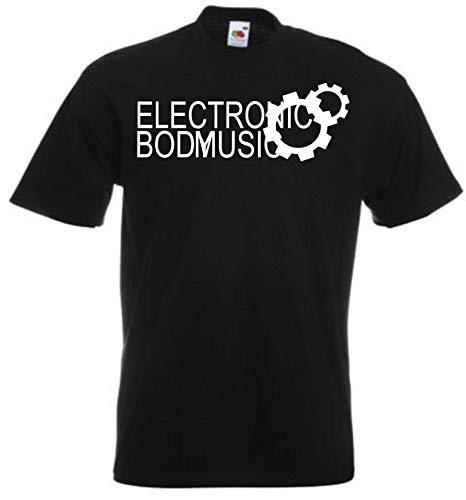 JINTORA T-Shirt - Shirt Mann schwarz - Größe XXL - Elektronische Körpermusik - EBM Zahnrad - JDM/Die Cut - für Party Fasching Karneval Arbeit Sport