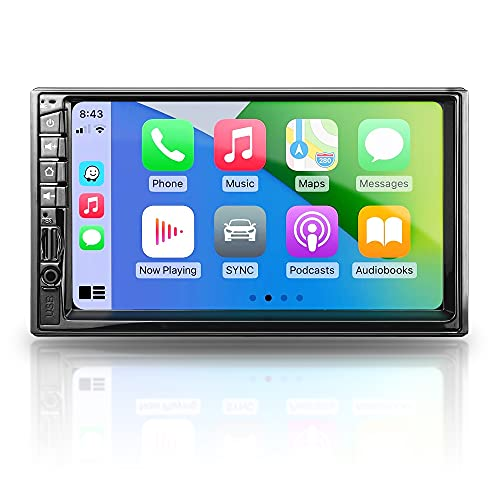Double Din Car Stereo - Corehan 7 Inch Touch Screen Car Radio with Bluetooth Compatiable with Android Auto Car Play