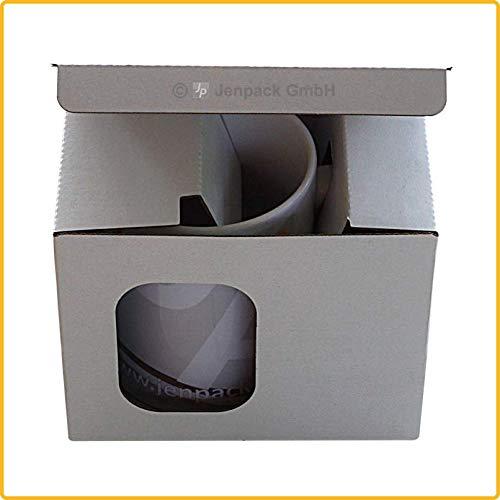 Tassenverpackung 135x98x122 mm weiß - 10, 20, 30, 50, 100 Stück wählbar (30)