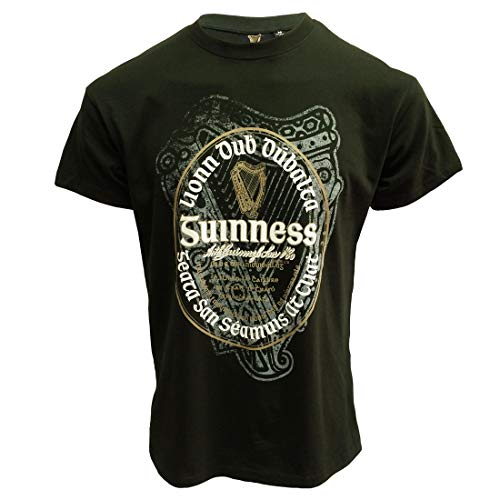 Bottle Guinness Irish Label T-Shirt Green M