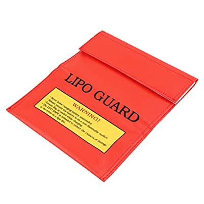 ROSENICE 18x23cm RC LiPo Li-Po Battery Fireproof Safety Guard Charge Bag Sack Protective Storage Bag Pouch (Red)