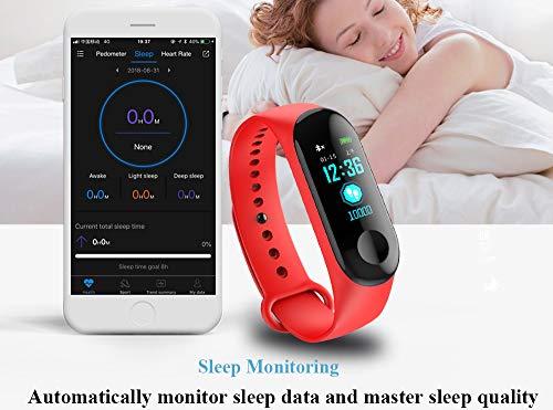 Fitness Trackers,Pantalla de Color Impermeable Monitor de Ritmo cardíaco Pulsera Inteligente Podómetro Contador de… 2
