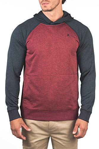 Hurley M Dri-Fit Disperse Pullover Sudadera, Hombre, Gym Red, S