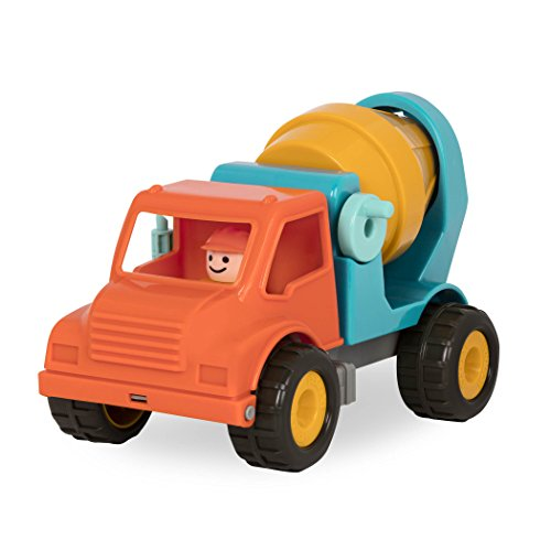 Battat - Cement Mixer Truck with Working Movable Parts and Driver - Toy Trucks for Toddlers 18m+, Orange/Blue (BT2511Z)
