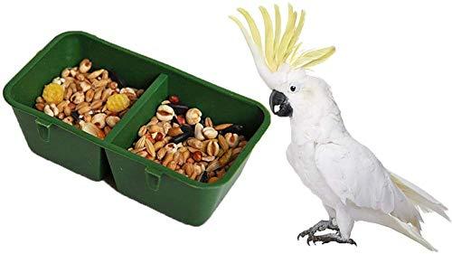 Comedero o bebedero para aves, para loros de Macao, loros grises africanos, periquitos, cotorras, cacatúas y canarios