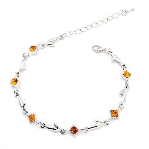JZHJJ eenvoudige en stijlvolle klassieke paar armband prachtige element, flash boor, blad armband, klein geschenk bevat: armband, armbanden vrouwen, armband koord, armband mannen, armbanden koppels