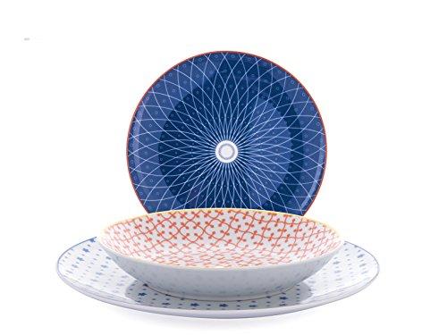 H&H 6603 - Vajilla de 12 piezas de organza de porcelana,