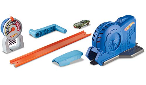 Hot Wheels- Sfida Turbo Lanciatore Playset Track Builder per Macchinine, Gioco per Bambini di 4 + Anni, FLL02
