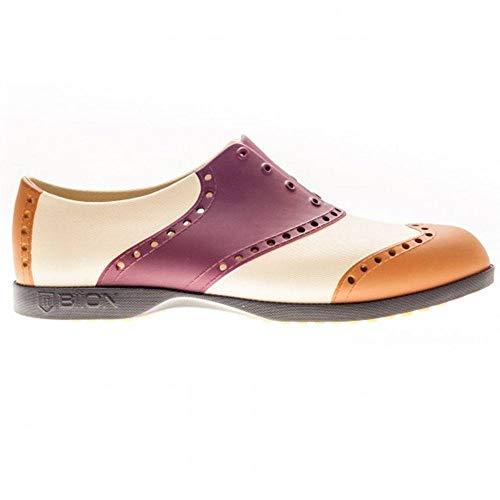 Biion des Wingtips Oxford und Golf Slip on Herren, Rot/Sand (Crimson Red/Sand/Leather) - Größe: 6(W8)