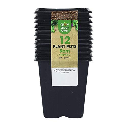 Maceta Cuadrada Para Guardería, Macetas De Plástico Negro Para Plantas, Macetas Para...