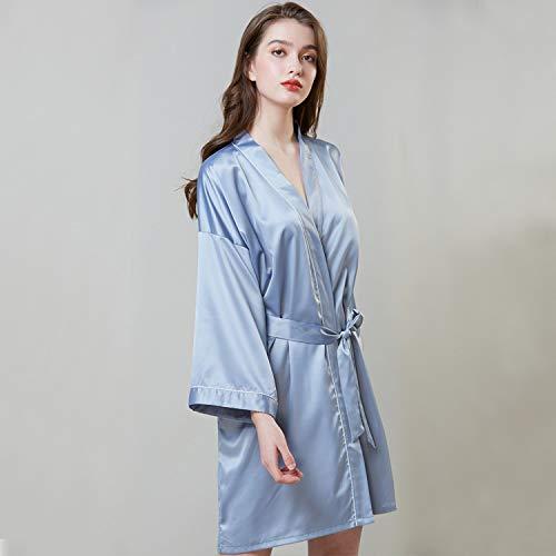 Damen Langarm Model Silk Pyjamas Bademäntel Home Wear