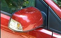 バックミラーカバー ドアミラーカバーサイドミラーキャップクロームドアミラーカバー高品質のカースタイリングフィット感の Fit For ためのFORD FOCUS MK2 2007年から2014年をカバー 車のバックミラーカバー (Color : Red left)