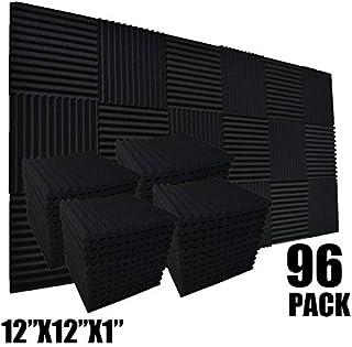 Paquete de 96 baldosas de espuma acústica absorben el eco, para estudio, insonorización, 12 x 12 x 1 pulgadas
