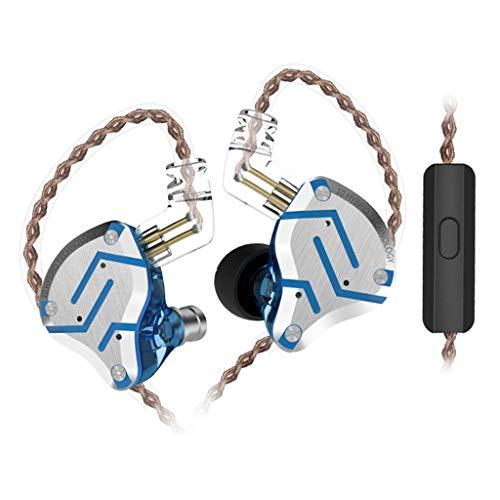 KZ Earphone Sport Headset HiFi Noise Cancelling Monitor 4BA+1DD Earbuds Blue