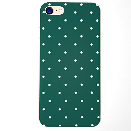 SecondDromi Netter grüner Hintergrund mit dem weißen Punktmuster stark hülle für iPhone 5S,für iPhone SE,Grün