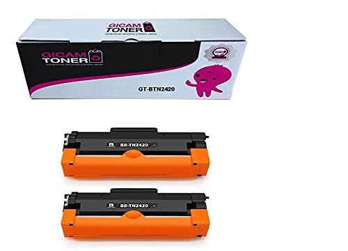 GICAM TONER 2420 X2 Tóner Compatible con Brother TN 2420 Alto Rendimiento Válido para Impresoras: DCP-L2530DW / MFC-L2710DW / HL-L2350DW / HL-L2310D / HL-L2370DN
