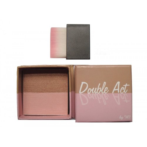 W7 Bronzer & Blusher Face Powder - Double Act