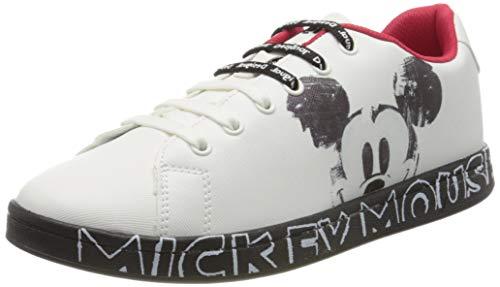 Desigual Damen Shoes Cosmic Mickey Mouse Sneaker, Weiß (Blanco 1000), 39 EU
