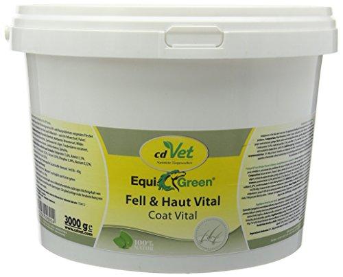 cdVet Naturprodukte EquiGreen Fell & Skin Vital 3 kg - voor paarden en pony's met huidproblemen - zomereczeem - muik - bij imbalances in de huid en vachtgebied - vachtverwisselen - gezondheid -