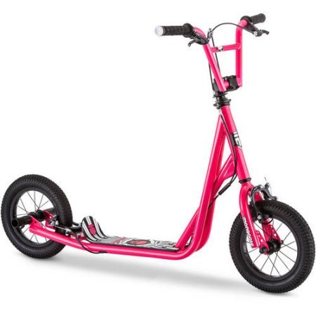 Mongoose 12' Expo Scooter It features neon green accents Actual Color: Pink