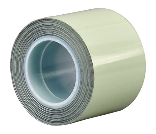 """TapeCase 12-5-7550 Green Laminated Film/Acrylic Adhesive Glow in The Dark 7550 Tape, 0.01"""" Thick, 5 yd. Length, 12"""" Width"""
