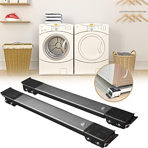 Hahepo Supporto per frigorifero base mobile anti-umidità per lavatrice frigorifero e asciugatrice; imbottitura anti-calcare