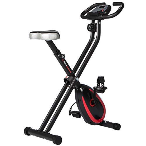 Ultrasport Unisex F-Bike Advanced Exercise Bike, Display LCD, Home Trainer Pieghevole, Livelli di Resistenza Regolabili, con Sensori di Pulsazioni, per Atleti e Anziani