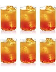 Borosil Vision Glass Medium Set, 295ml,20ml of 6-Pieces, Transparent