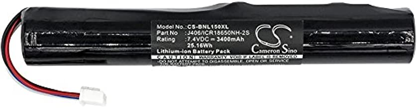 Cameron Sino Replacement Batteries for Bang & Olufsen J406/ICR18650NH-2S, Fits Bang & Olufsen BeoLit 15 BeoLit 17 BeoPlay A2 BeoPlay A2 Active(Li-ion 7.40V 3400mAh / 25.16Wh)