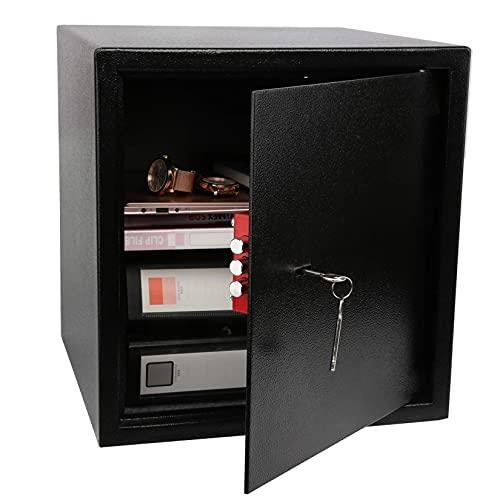 YJF-ZWS 37L Home Office Cassaforte 40 * 38 * 38 Cm, Cassaforte Ignifuga E Impermeabile con Chiave, per Armadietto Pistole Gioielli con Denaro Contante