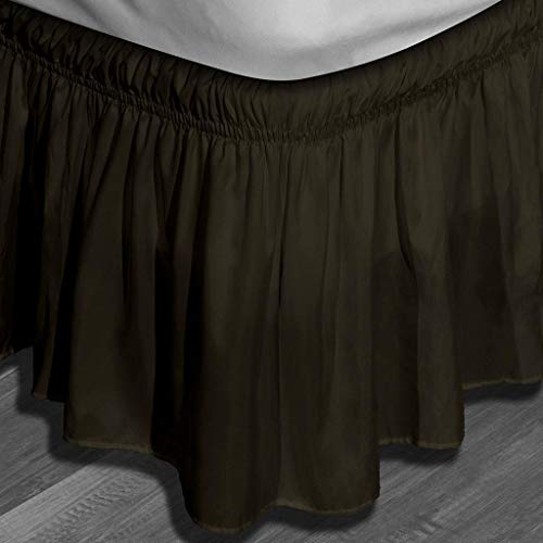 Duck River Textiles, Chocolate, Waldorf Microfiber Bed Ruffle Skirt, Twin/Full