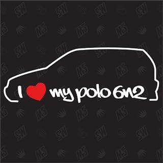 speedwerk motorwear I Love My Polo 6N2   Sticker kompatibel mit VW   Baujahr 1999 2001