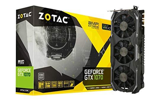 ZOTAC GeForce GTX 1070 AMP! Extreme Core 8GB GDDR5X - Tarjeta gráfica