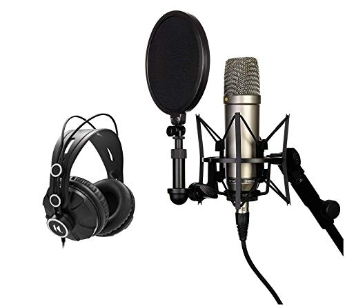 rode vocal microphones Rode NT1A Anniversary Vocal Condenser Microphone Bundle with Knox Headphones (2 Items)