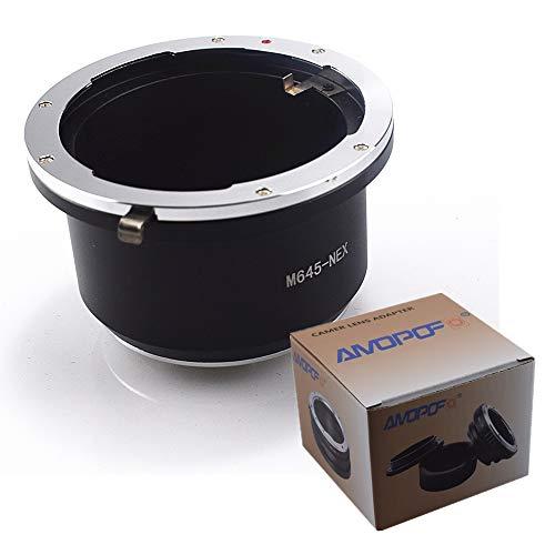 M645-NEX Objektiv Adapter Adapterring,für Mamiya 645 M645 Objektiv Kompatibel für Sony Alpha E-Mount Kamera a7,a7R,a7S,a7II,Alpha NEX-3,NEX-5,NEX-C3,NEX-5N,NEX-7,NEX-F3,NEX-5R,NEX-6,M645 to NEX