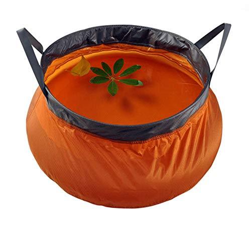 Yingm Cubo de Agua Plegable 10L Plegable Lavabo portátil Plegable al Aire Libre del Cubo de Agua Bolsa de Senderismo Pesca Platos Que se lavan Viaje Portátil al Aire Libre (Color : Orange)