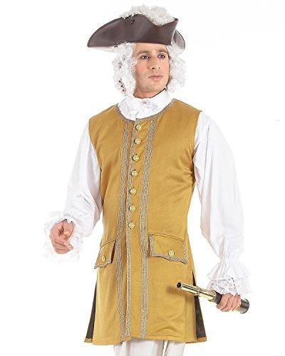 Norrington Commodore Pirate Renaissance Medieval Mens Costume Vest (Large) Gold