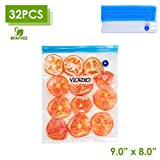 VICARKO Vacuum Sealer Zipper Bags BPA Free with Air Valve Double Layers Sous Vide Cooking Replacement for...