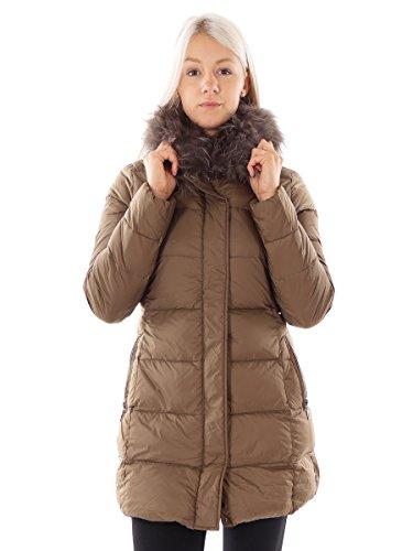 CMP Daunenjacke Funktionsjacke Mantel braun Fell wärmeisolierend Gr. 38 3K29366 (38)