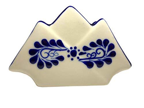 Talavera Pottery Serviettenhalter – authentische handbemalte mexikanische Keramik – mexikanisches Dekor – koloniales Weiß