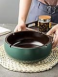Cilindro de ceniza Té retro europeo Varios tanques de cerámica Hogar Sala de estar Oficina Cenicero-Cenicero - Verde