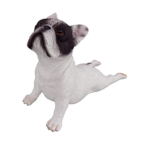 Artgenius Dog Collection- French Bulldog Statue Bulldog Figurine Small,Lying (White Panda)