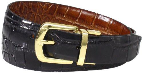 Florsheim Men's Reversible Belt Croc Embossed 30mm