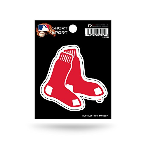 Rico Industries SRT3901 MLB Boston Red Sox Short Sport Decal,3.5' x 4.5'