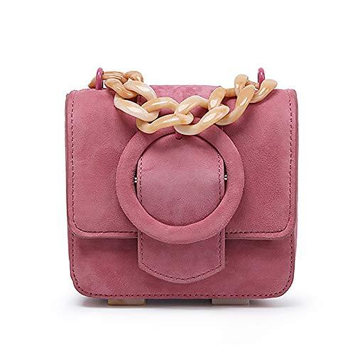 yitao Bolso de las señoras Lindo hombro bolsa nueva bolsa de mensajero fijo de las mujeres acrílico ajustable cadena pequeña cuadrado paquete simple exfoliante mujeres handsbag