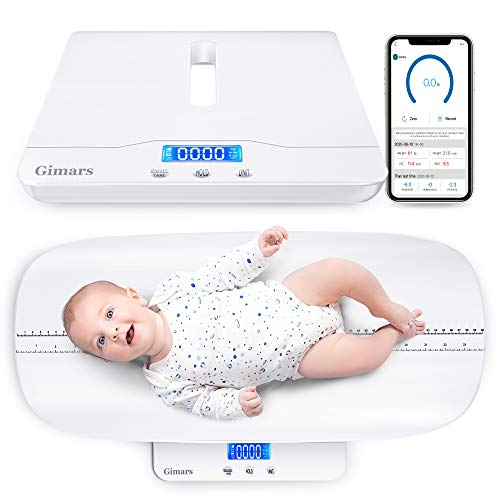Gimars Smart Baby Scale,Ugraded Family Digital Scale for Infant/Toddler/Adults/Pet,Free App Included,Height Track Added