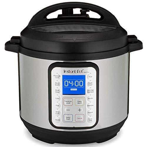 Instant Pot Olla a presión eléctrica DUO PLUS 8L.15 programas inteligentes: olla a presión, olla arrocera, olla de cocción lenta, vaporera