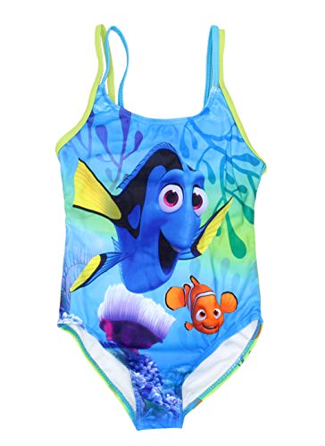 Dreamwave Badeanzug für kleine Mädchen, mit authentischer Findet Dorie, LSF 50 - Blau - 6X